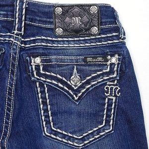 MISS ME Capri Jeans 28x23 Signature Cuffed Dark